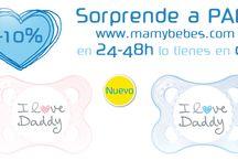 SORPRENDE A PAPÁ. www.mamybebes.com / En un día tan especial, dile a papá lo mucho que le quieres con el chupete MAM Original (0-6 meses, Látex Natural)  www.mamybebes.com