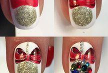 χριστουγεννιατικα νυχια