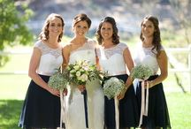 Bridesmaid and wedding dresses