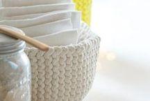 tricoter une corbeille