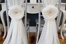 Decoración sillas bodas