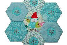 Mini quilts/mug rugs by Tikki