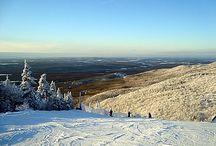 À voir en Estrie (avec neige) / Endroits à visiter pendant l'hiver dans les Cantons-de-l'Est, Québec -------------------------------------------- Nice places to visit during winter time in the Eastern Townships, Quebec / by Beah H