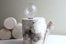 Home decor / Lamp birch