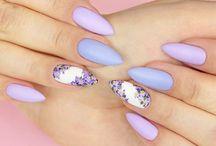 paznokcie fiolet