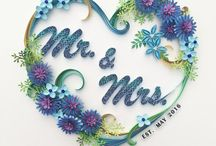 Quilling for wedding