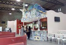 Telepizza en Reus, reproducción casa batlló de Gaudi