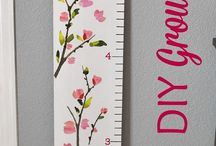 Growth chart ideas / For Luca's room