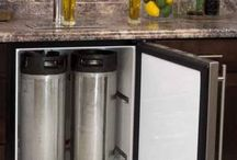 Beer tap in the kitchen