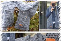 Haakideeen sjaals/omslagdoeken