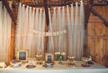 Backdrop bridal table