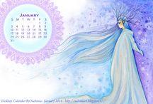 Desktop Calendar / Nahima's Art