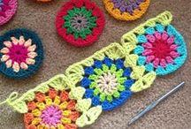 crochet cruadrados y redondos