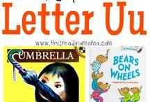 Letter U Preschool / Preschool activities, books, and crafts for the Letter U.