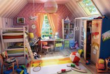 interior 3D cartoon