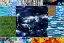 Down To Earth Fabrics / Landscape Medley and Other Beautiful Fabrics depicting the Earth