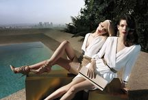 EF   SS 14 AD CAMPAIGN / Set in the City of Angels skyline, Aline Weber e Meghan Collison channel the alluring clash of opposites. The seduction evoked in the sunset light campaign lensed by Camilla Åkrans.