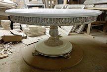 Столы.Наш резной декор из древесной пасты, пульпы, полимера, полиуретана