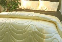 Satin Comforters / Our Satin Comforters are American style quilted comforters that reach to the floor.