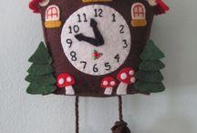 Horloge en feutrine