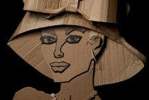 Arte em papelão