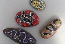 Australian indigenous inspiration rocks