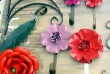 Como fazer flor de alumínio.