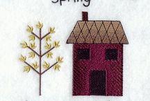 Stitching: Houses, Buildings / by Eddi Miglavs