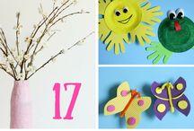Spring crafts / wiosenne prace plastyczne