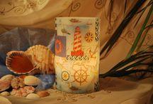 Χειροποίητα κεριά-φαναράκια(με θέμα τη θάλασσα) / Οι δημιουργίες μου  Χειροποίητα κεριά