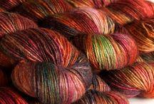 Hand dyed wool (spun)