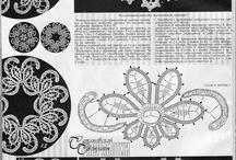 Írska čipka / háčkované motívy a dečky technikami írskej a flanderskej čipky