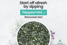 Peppermint Tea / Halmari's Peppermint tea has an exotic flavor and a mellow finish. This stimulating tea with well curled attractive leaf is very cool and intense.