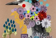 collage / I discovered collage in Foundation art and design and love this free form