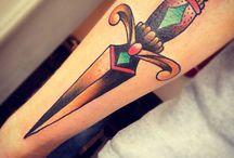 Dolch-Tattoo