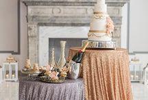 Bling wedding table dress