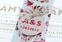 floral & vintage invites