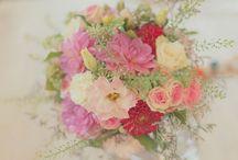 bouquet mariage et couronne de fleur+coiffure