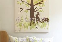Baby in the Woodland / The popular woodland theme for baby nursery decor.