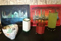 handmade lamps (#recycle)