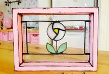 stained glass / 製作したステンドグラスの作品 Work of stained glass that was manufactured