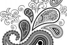 Paisley/ doodle/ zitangle