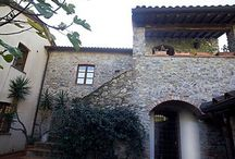 Charming country villa in liguria, italy / A charming country house in liguria, between Genoa and Pisa. Close to ligurian sea and alpi apuane, the marble's mountains. An incredibile mix of stones and red bricks and wood.