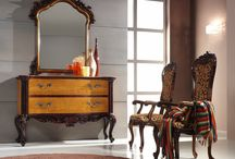 """A touch of luxury for your home? / What do you think of the """"700's"""" French monarchy style dresser, which, thanks to the precious care of the inlay and the nuances of the wood, gives the exact regality to your living-room."""