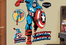 Avenger to the rescue / Superhero mad boys bedroom