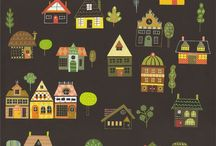 (pattern) Cities and villages