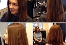 Ljusbrun / Här visar jag före- och efterbilder där jag använt mig av den fina nyansen ljusbrun.