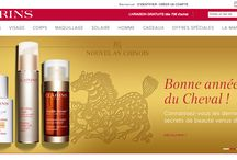 Clarins / Site e-commerce : www.clarins.fr