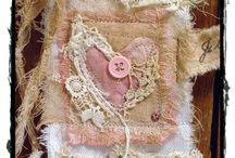 Crafty ✿⊱  Fabric journals