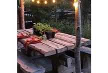 Creative outdoor tables